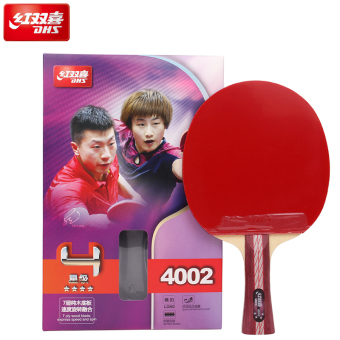 DHS Hi hurricane short handle long handle double-sided anti-plastic table tennis racket