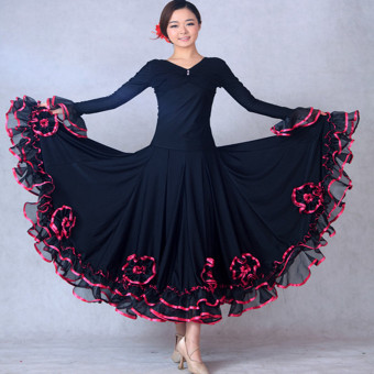 Huaerzi New style long-sleeved ballroom dance Top