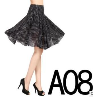 Practice dance dress with anti-exposure bottoming pants skirt
