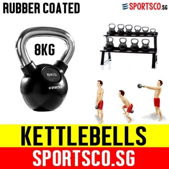 SPORTSCO 8KG Rubber Coated Kettlebell (SG)