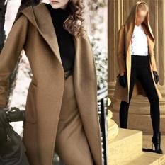 Camel womens slim woolen blend long coat jacket trench windbreaker parka intl 6682 96306411 2acec947608f53b43d37eb22bf172542 catalog 233