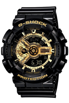Casio G-Shock Men's Black Resin Strap Watch GA-110GB-1A