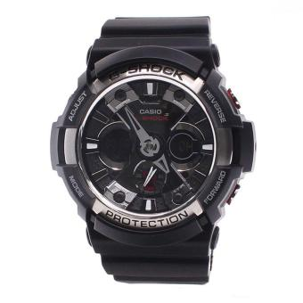 Casio Watch G-SHOCK Black Resin Case Resin Strap Mens NWT + Warranty GA-200-1A