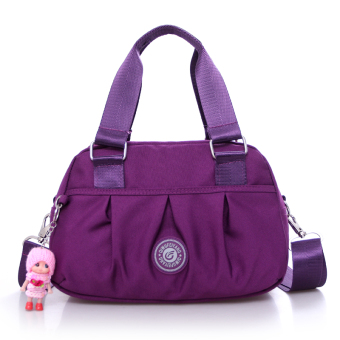 Cloth handbag hand bag New style tide nylon Oxford Cloth Bag casualshoulder diagonal Ms. small bag messenger bag (Purple)