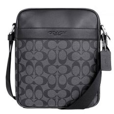 coach mens wallet outlet 59os  Coach Men's F71764 Flight Signature Crossbody Sling Bag Black