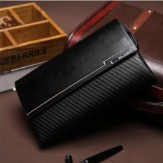 large capability cowhide leather handbag clutch portable leisure long wallet purse business phone bag flip