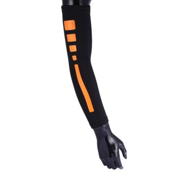 Men Women Compression Arm Sleeves Elbow Support Protector (Black L)- intl