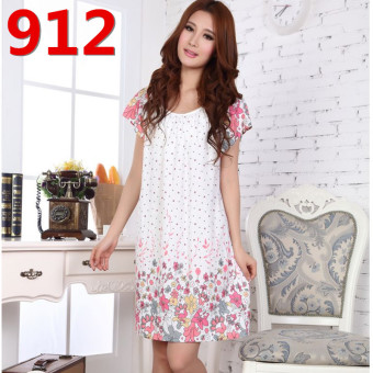 Mm200/3XL Female Summer Cotton Short sleeved extra-large women's lingerie pajamas (912)