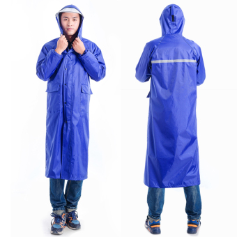 Models hiking raincoat [double hat with Rain mask] coat (YY-090coat solid color blue) (YY-090 coat solid color blue)