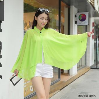 Printed chiffon blouse summer driving cycling uv sun silk scarf air conditioning cape beach towel sunscreen
