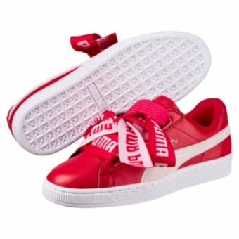 Puma Basket Heart De Women's Shoes (Toreador/White)