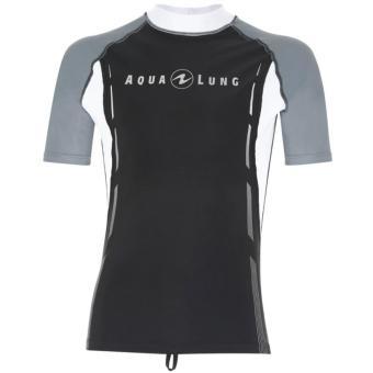 Rashguard Black/White Short Sleeves