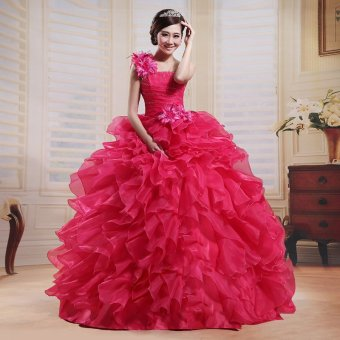 Rose color high-grade New style shoulder wedding