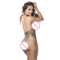 2d36356364 Sexy Women Fishnet Sheer Open Crotch Body Stocking Bodysuit Lingerie PK -  intl