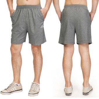 Sports men summer Thin Men's shorts cotton shorts (Dark gray) (Dark gray)