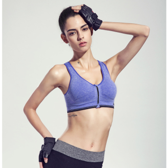 21370bfd69b Summer Sports underwear female running shockproof yoga fitness seamless vest  zip gather no rims sleep bra
