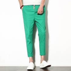 The new summer edition men's fashion small feet haroun cotton and linen casual pants - intl