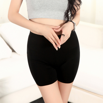 Three points modal anti-female summer shorts lace Safety pants (Black boxer) (Black boxer)