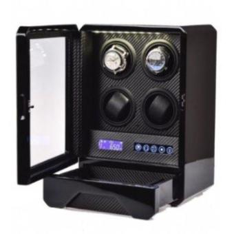 Watch Winder 4+2 Black with LED Light
