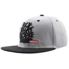 Hip Hop Snapback Caps Adjustable Baseball Cap Men Women Boy Hat Girl Snap Back Grey Intl - Daftar Update Harga Terbaru Indonesia