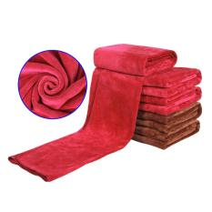 360DSC Microfiber Towels Car Cleaning Cloth Absorbent Fast Drying - Red