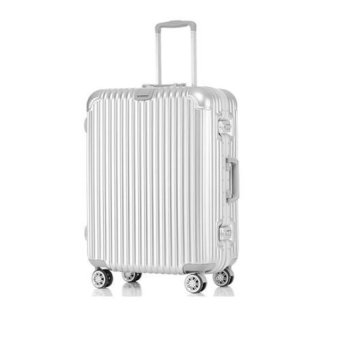 "Aluminium-Framed Hard Shell Trolley Luggage (20"")"