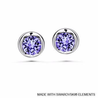 Beryl Earrings (Tanzanite) - Crystals from Swarovski®
