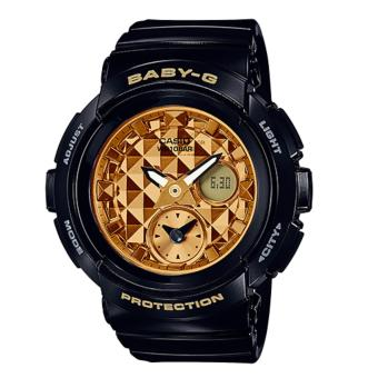 Casio Baby-G Round Series Black Resin Band Watch BGA195M-1A