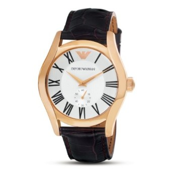 Emporio Armani AR0677 Mens Classic Gold & Leather Strap Watch