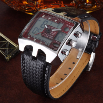 Sports Watches Men Analog Digital Quartz 3ATM Waterproof Dive Fashion Military Watch Relogio Male Clock Gifts(Red)