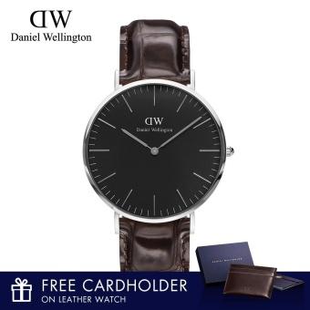 Daniel Wellington Classic Black York 40mm Watch With Free Cardholder