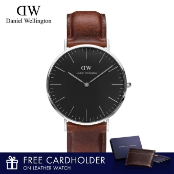 Daniel Wellington Classic Black St Mawes 40mm Watch with Free Cardholder