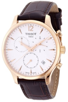 Tissot Tradition Unisex Brown Leather Strap Watch T0636173603700