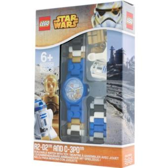 LEGO Star Wars C-3PO and R2-D2 watch bundle with minifigure