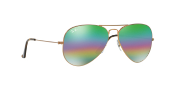 Ray Ban Rb3025 Large Metal Aviator  ray ban aviator large metal light grey mirror rainbow 2 lenses