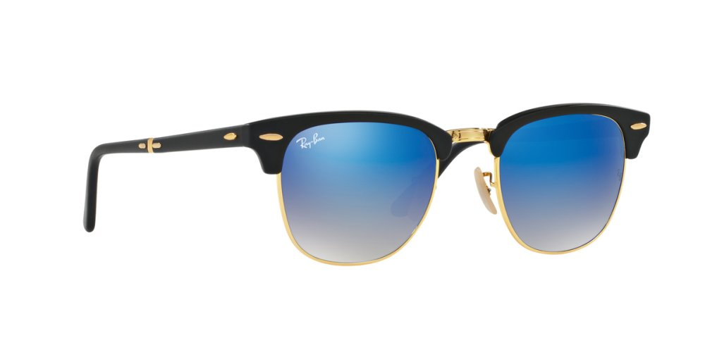 ray ban clubmaster blue lenses  RAY-BAN CLUBMASTER FOLDING BLU FLASH GRADIENT Lenses RB2176 901S7Q ...