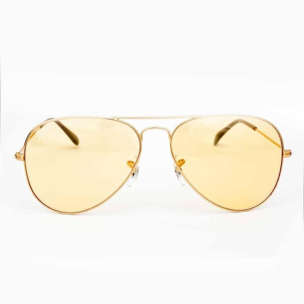 ray ban 58 14 aviators  Rayban RB3025 001/4A 58-14 Aviator Sunglasses (Yellow Lense ...