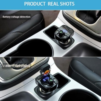 Super Bluetooth Car Kit Handsfree Set FM Transmitter MP3 music Player - intl