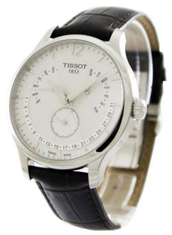 Tissot T-Classic Tradition Perpetual Calendar Leather Strap Men's Watch T063.637.16.037.00