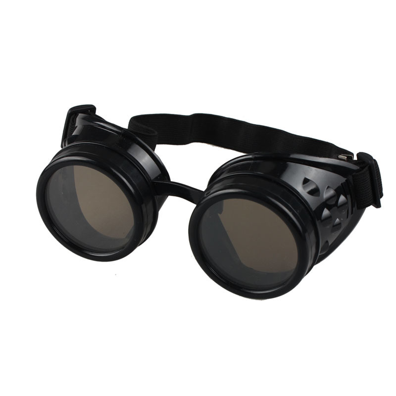 Goggle Style Sunglasses  vintage style steampunk goggles welding punk glasses cosplay black