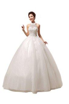 ball gown halter neck sleeveless sweep/brush train organza