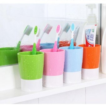 Buyincoins 4 candy colors water cups toothbrush toothpaste holder kitchen bathroom cup cute pink - Keep toothpaste kitchen ...