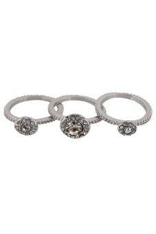 Ring Ring Set Wedding Ring Wedding Ring Set Crystal Wedding Ring ...