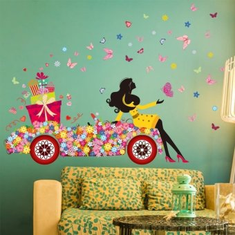 Magic girl moon butterfly beautiful removable wall decor home decor