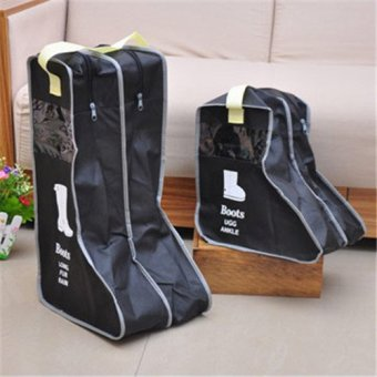 Shoe Dustproof Covers Storage Bags Free Shipping-Black(Export)(Intl