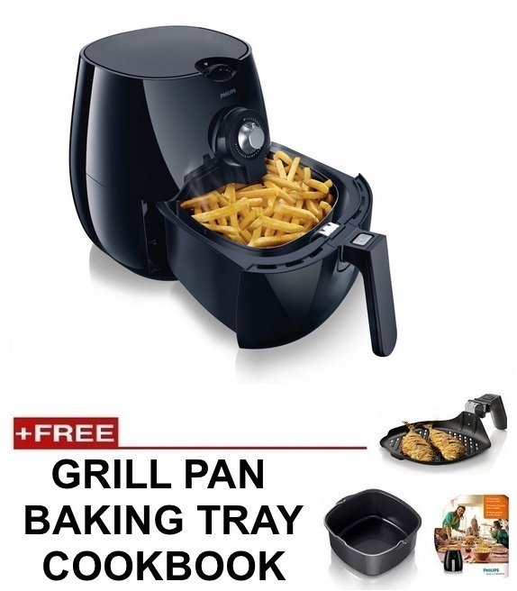 Philips Hd9220 Air Fryer Black Free Baking Tray Grill