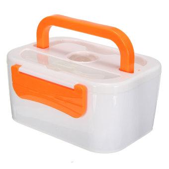 portable electric heated car plug heating lunch box bento box food warmer 12v orange export. Black Bedroom Furniture Sets. Home Design Ideas