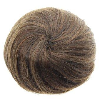 ... Hair Bun Elastic Round Hair Scrunchie Wig Light Brown(EXPORT) - INTL