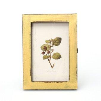 Vintage Photo Frame Home Decor Wooden Wedding Casamento Pictures Frames Yellow Export