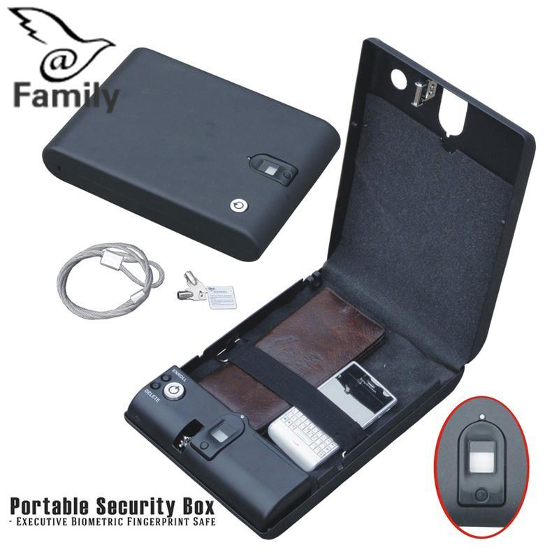 Big Family:Car Safe Box Fingerprint Lock Jewelry Cash Storage Boxes Security With Wire - intl